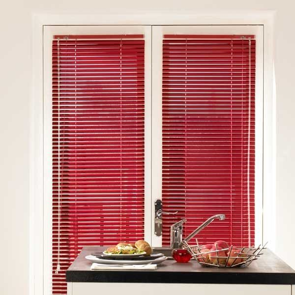 Aluminium Venetian Blinds Red
