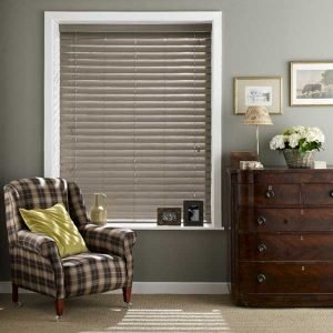 Faux Wood Expressions Venetian Blinds Haze