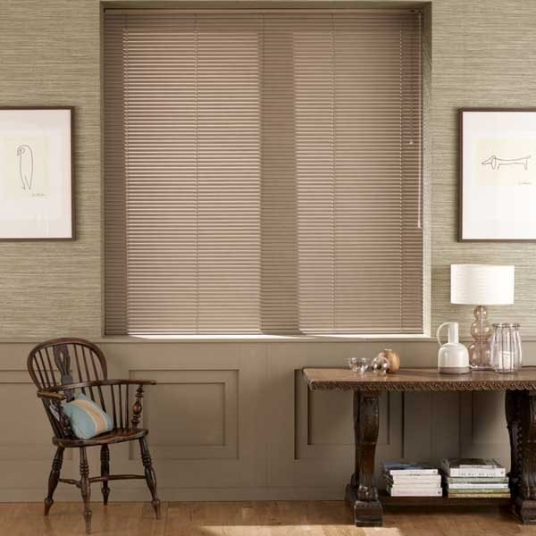 Aluminium Woodprint Blinds Walnut