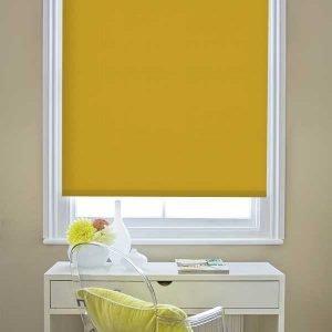 Coloured roller blinds