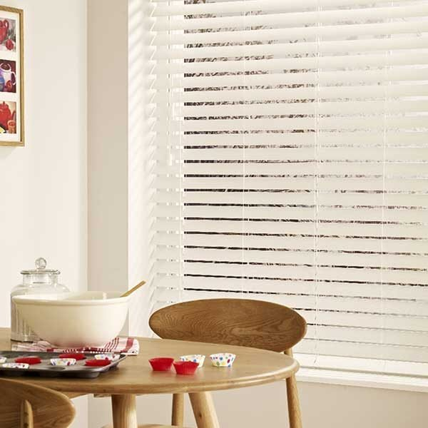 Faux Wood Expressions Venetian Blinds White