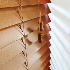 Golden Oak Wooden Venetian Blind