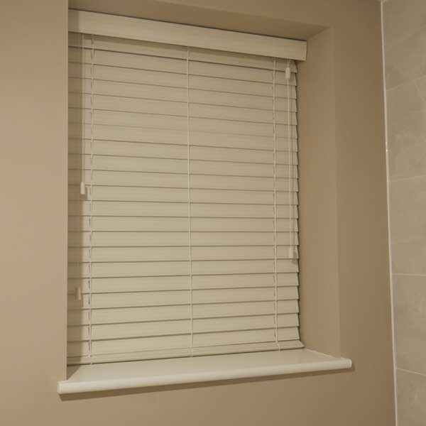 Moisture Resistant Bathroom Blinds Grey
