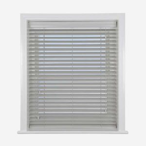 Light Grey Wooden Venetian Blinds