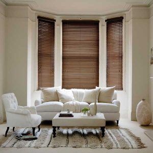 Wooden Venetian Blinds - Fired Walnut